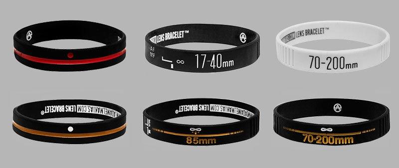 pulseras de silicona fotograficas lensbracelet