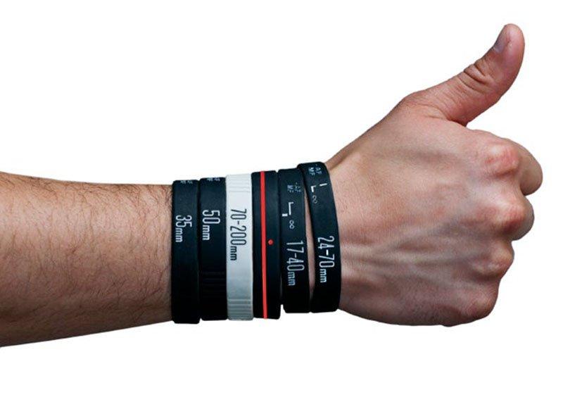 Pulseras lens bracelets para fotografos