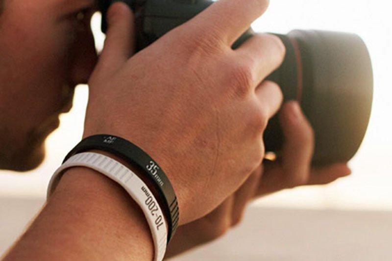Pulseras de silicona para fotografos